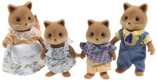 Calico Critters Slydale Fox Family