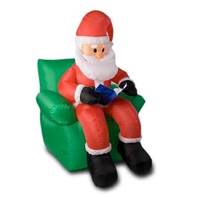 Aufblasbarer Weihnachtsmann auf Sessel, 180 cm hoch von Maxstore in [ProductCategories]