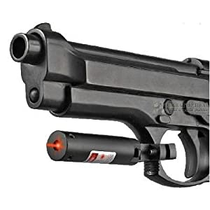 Universal Pistol Mount Red Laser Sight 3 Lithium Batteries Included