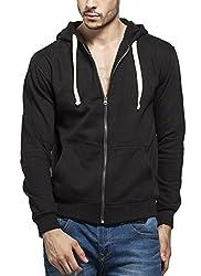 Tinted Men's Blended Hooded Sweat Shirt TJ5304-BLACK-XL