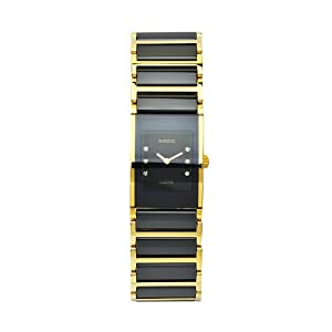 Rado Women's R20789752 Integral Black Dial Ceramic Bracelet Watch from Rado