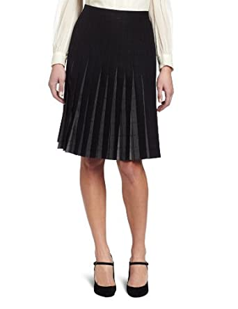 Pendleton Women's The Reversible Pleated Skirt, Black/Grey Worsted Windowpane, 14