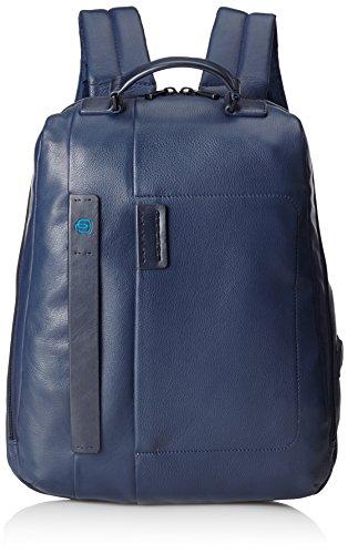 Piquadro Pulse Zaino, Pelle, Blu, 42 cm