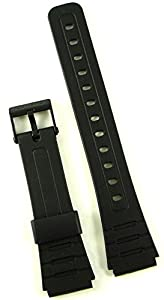 Genuine Casio Replacement Watch Strap 71604002 for Casio Watch F-105W-1ASV, F-91W-3W, F-105W-1AV + Other models de Casio