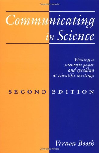 Communicating in Science: Writing a Scientific Paper and...