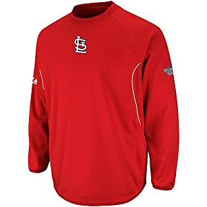 St. Louis Cardinals Majestic 2013 Therma Base Tech Fleece Pullover with World Series...