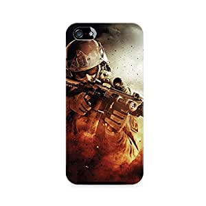 Motivatebox - Apple Iphone 4/4s Back Cover - soldier fighting Polycarbonate 3D Hard case protective back cover. Premium Quality designer Printed 3D Matte finish hard case back cover.