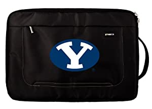 Buy NCAA Brigham Young Cougars Deluxe Nylon Laptop Sleeve for 15-Inch to 16-Inch Laptop or MacBook Pro by Tribeca Gear