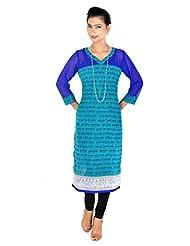 Vivaa Georgette Long Dress, Kurti, Top - B00OBGUTD2