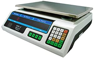 TMS SCALE(BLUEBOX)ACS-C 60-Pound 30Kg Digital Price Food Meat Produce