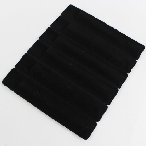 30 Stück (5 Blatt) schwarz einfache Feder-Beutel, samt Stift Taschen, Stoff Etui