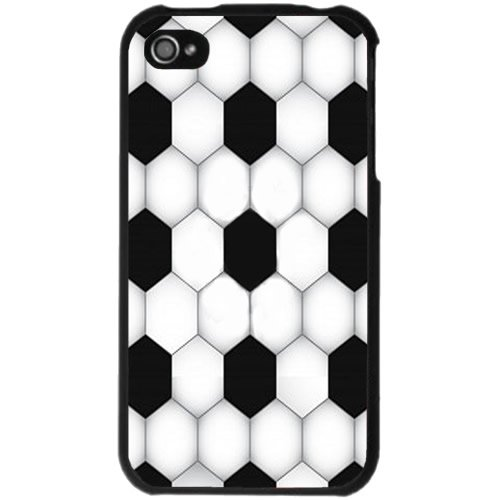 Graphic Soccer Ball iPhone 4 Case (Black)