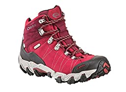 Oboz Women\'s Bridger Bdry Hiking Boot,Rio Red,9 M US