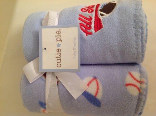 All Star 2 Pack Fleece Baby Blanket - Blue