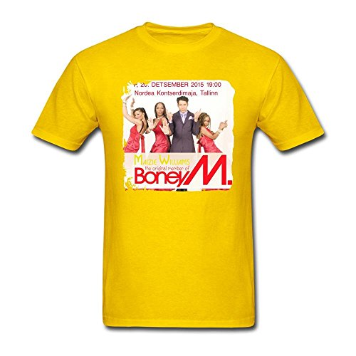 CalWaeag Men's 2016 Concert Boney M Tickets T shirts (Iggy Concert Tickets compare prices)