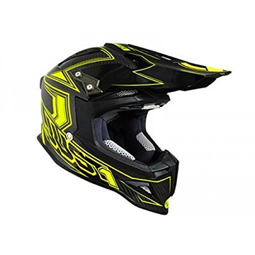 JU001413 - Casque Just1 J12 Carbon Fluo Jaune Fluo/Carbone S