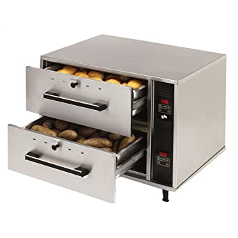 Star Mfg 2-Drawer Standard Food Warmer w/ Individual Controls