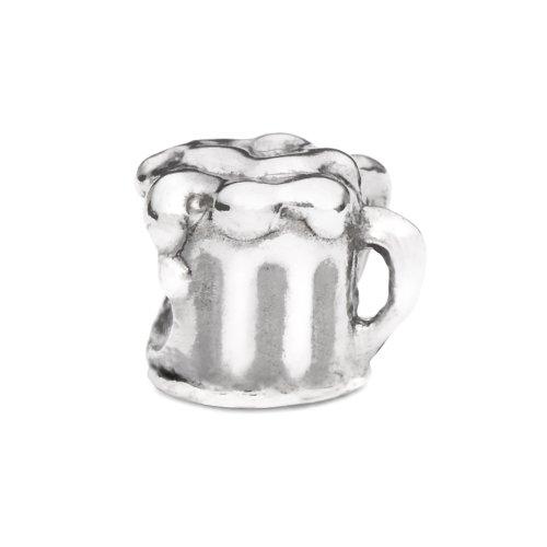 Novobeads Beer Mug Sterling Silver Charm Bead - Fits all major bead bracelets