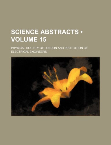 Science Abstracts (Volume 15)