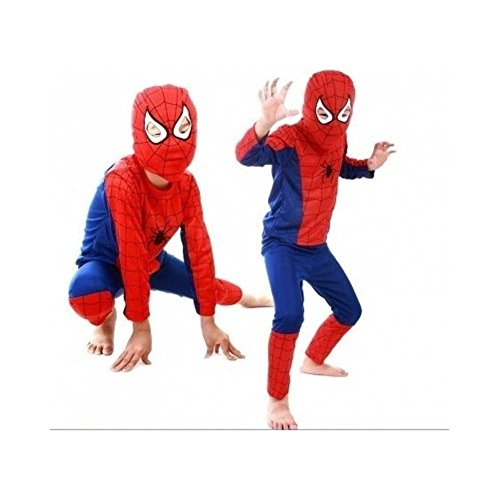 Spiderman Halloween Costume for Kids Party, Boys Dress-up