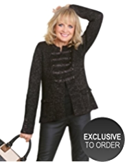 Twiggy for M&S Collection Metallic Effect Military Cardigan with Mohair
