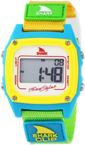 Freestyle Women's FS84862 Shark Clip Multicolored Digital Watch with Canvas Band (Shark Freestyle Watches compare prices)