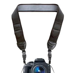 USA Gear Adjustable Anti-Slip Camera Media Strap with Accessory Storage Pockets for Canon EOS Rebel T5i , T4i , T3 , T3i / 60D , 100D , 700D / 5D Mark III / PowerShot G15 and Many More Canon Digital Cameras!