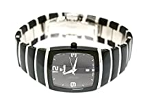 buy Mens Large Nivada Swiss Watch Square Black Ceramic Stainless Steel W Numbers
