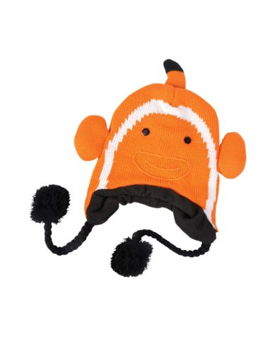 Orange White Clown Fish Nemo Sea Life Ocean Hat Knit Winter Cap Toque Beanie Hat