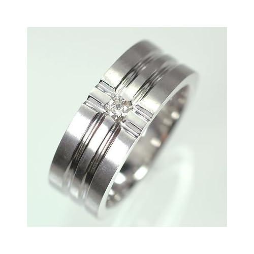 [キュートジュエリー]Cute jewerly K18WG ダイヤモンド0.1ct メンズリング 15