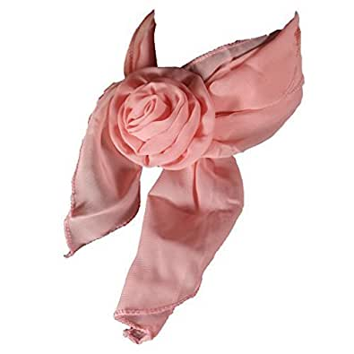 Funky Rose Clip Scarf, Choker, Wristband or Headband - Peach