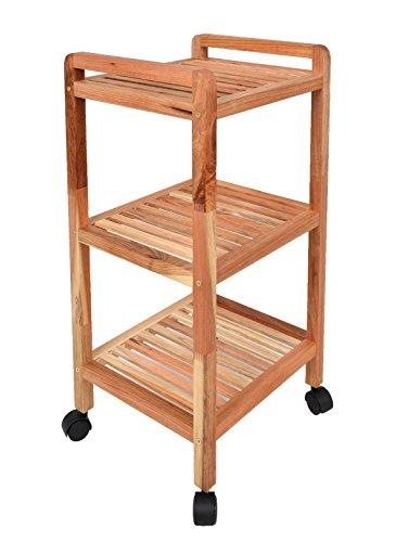 Roll-Regal-Standregal-mit-Rollen-Hhe-72-cm-aus-Walnuss-Massivholz-fr-Bad-Wohnzimmer-Sauna-Flur-Diele-Kche-Bro-und-Kinderzimmer