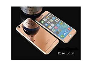 AMOL BAZAR Gold Luxury Metal Bumper + Mirror Back Cover Case For IPHONE 5 5S 5G ROSE GOLD