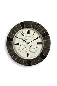 """Slate Effect Outdoor Garden Clock - 35.5cm (14"""")"""