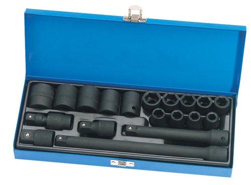 Draper Expert 54651 19-Piece 1/2-Inch Square Drive Impact Socket Set
