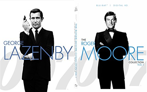 Roger Moore 007 George Lazenby Collection James Bond Blu Ray Volume 2 Moonraker, Octopussy, View to a Kill + On Her Majesty's Secret Service 5 Movie Set