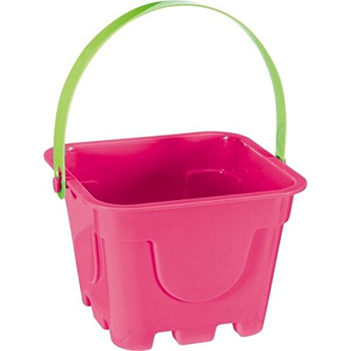 "Amscan Square Party Favor Pail, 4-1/4 x 5-3/4"", Magenta"