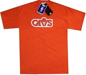Cleveland Cavaliers Throwback Adidas Hardwood Classics Orange Shirt by adidas