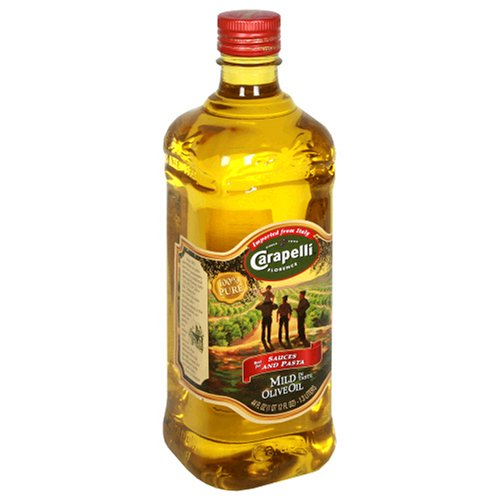 Carapelli Mild Olive Oil, 44-Ounce Plastic Bottles (Pack of 2)