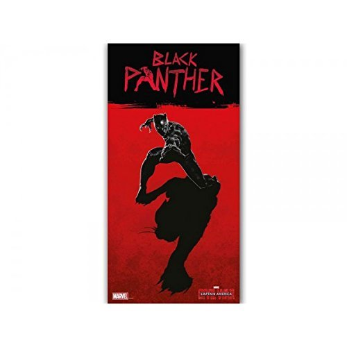 SD toys - Poster Marvel Verre Tremp - Civil War - Black Panther 30x60cm - 8435450201363 by SD Toys