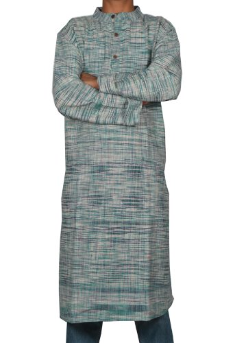 Handmade Casual Indian Khadi Mens Long Kurta Fabric For Winter & Summers Size-XXL