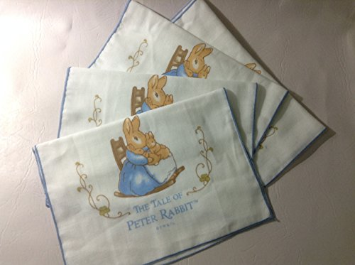 Peter Rabbit Baby Soft Muslin Cotton Washcloths, baby spitting long Handkerchief x 4pcs Midden Size 29x59 cm - 1