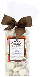 YumEarth Organic Artisanal Candy Drops, Wild Peppermint, 6 Ounce Pouches (Pack of 6)