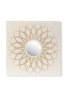 Palecek Dahlia Mirror, White