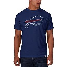 NFL Buffalo Bills Men\'s \'47 Basic Scrum Tee, Bleacher Blue, Medium