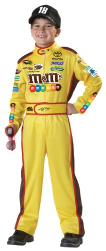 [California Costumes Nascar Kyle Busch Child Costume, Large] (Childs Racing Driver Costume)