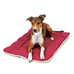 Pet Dreams- Lightweight Reversible Dog Bed- Burgundy Red- XX-Large