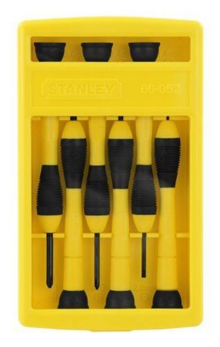 66052 6 Pc Bi Material Handle Precision Screwdriver Set