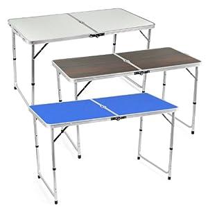 Klappbarer Camping Garten Tisch Aluminium Klapptisch Balkon Gartentisch Flohmarkt Popamazing (blau)