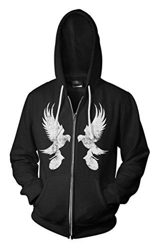 Dove, Hollywood Undead-Felpa con cappuccio nero Large